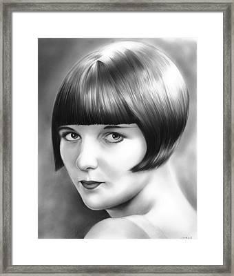 Louise Brooks Framed Print by Greg Joens