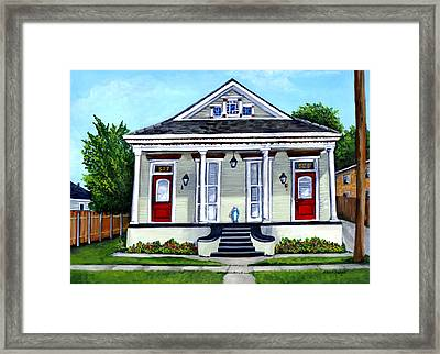 Louisiana Shotgun Double Framed Print by Elaine Hodges