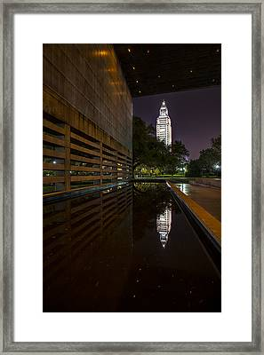 Louisiana State Capitol Framed Framed Print by Andy Crawford