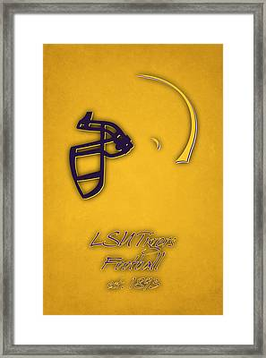 Louisiana State Tigers Helmet 2 Framed Print by Joe Hamilton