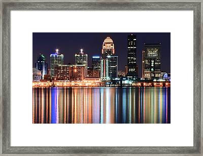 Louisville After Dark Framed Print by Frozen in Time Fine Art Photography