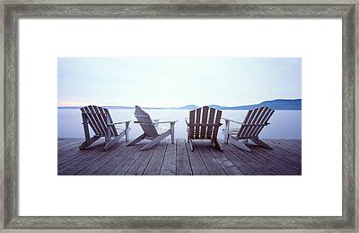 Lounge Chairs Moosehead Lake Me Framed Print by Panoramic Images
