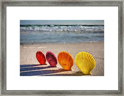 Lounging In Destin Framed Print by JC Findley