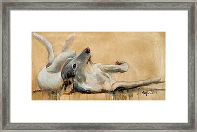 Lounging Framed Print by Mary Leslie