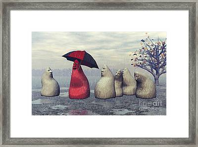 Lousy Weather Framed Print by Jutta Maria Pusl