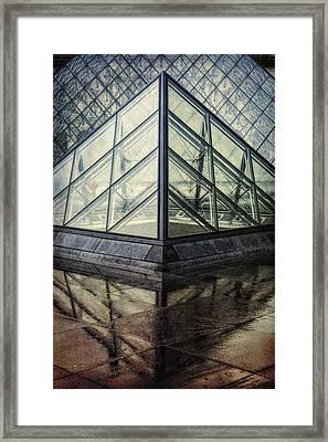 Louvre Pyramids Paris II Framed Print by Joan Carroll