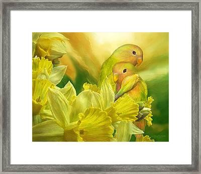 Love Among The Daffodils Framed Print by Carol Cavalaris