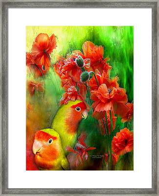 Love Among The Poppies Framed Print by Carol Cavalaris