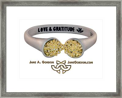 Love And Gratitude Overflowing Diamond Bowls Framed Print by Jane A  Gordon