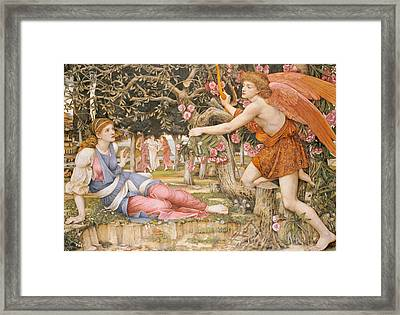 Love And The Maiden Framed Print by JRS Stanhope