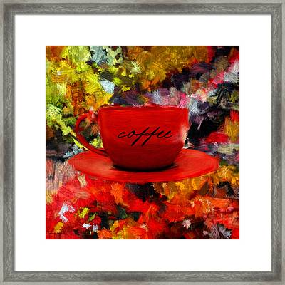 Love At First Sip Framed Print by Lourry Legarde