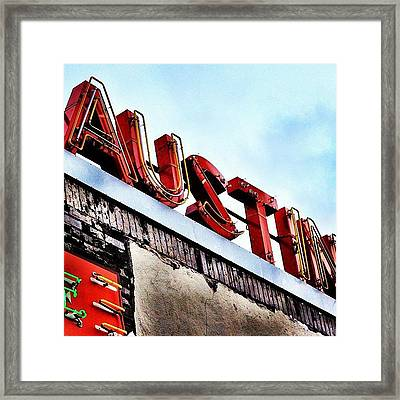 Love #austin Framed Print by Things To Do In Austin Texas