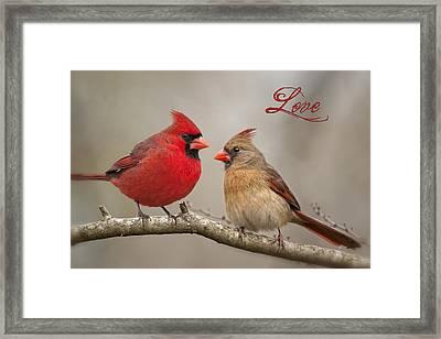 Love Framed Print by Bonnie Barry