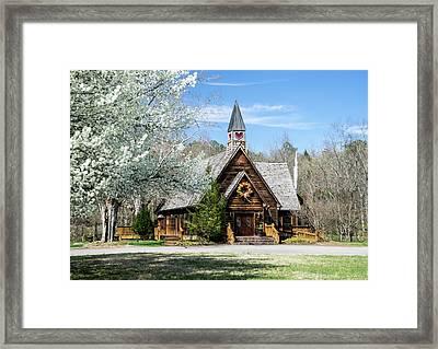 Love Chapel In Spring 1 Framed Print by Douglas Barnett