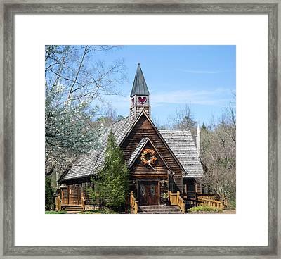 Love Chapel In Spring 2 Framed Print by Douglas Barnett