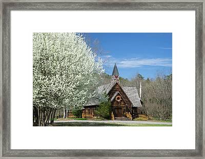 Love Chapel In Spring 3 Framed Print by Douglas Barnett
