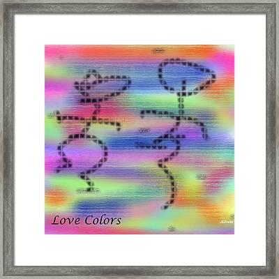 Love Colors Framed Print by Alec Drake