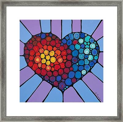 Love Conquers All Framed Print by Sharon Cummings