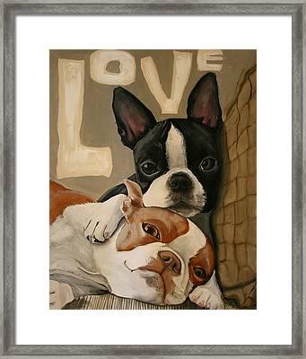 Love Framed Print by Debbie Brown