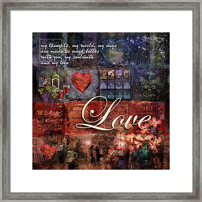 Love Framed Print by Evie Cook