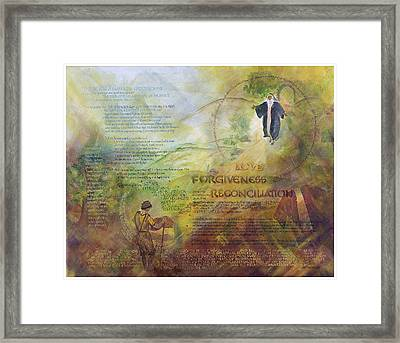 Love Forgiveness Reconciliation Framed Print by Judy Dodds