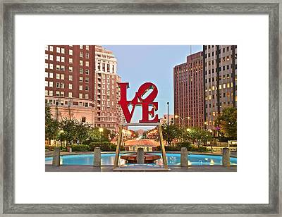 Love Fountain At Daybreak Framed Print by Frozen in Time Fine Art Photography