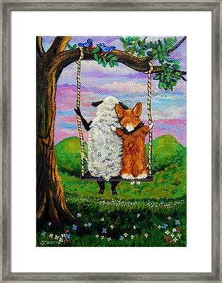 Love Grows Where You Least Expect It Framed Print by Lyn Cook