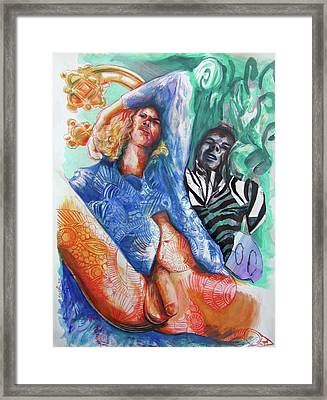 Love Hurts And Even Zebra's Fall Down Framed Print by Rene Capone