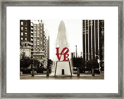 Love In Philadelphia Framed Print by Bill Cannon