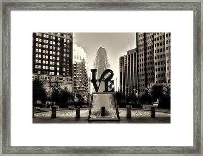 Love In Sepia Framed Print by Bill Cannon