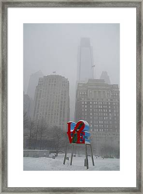 Love In The Winter Framed Print by Bill Cannon