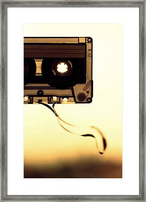Love Is A Mixed Tape Framed Print by Taryn