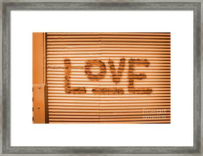 Love Is All Framed Print by Jorgo Photography - Wall Art Gallery