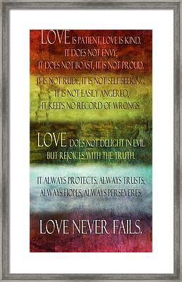 Love Is  Framed Print by Angelina Vick