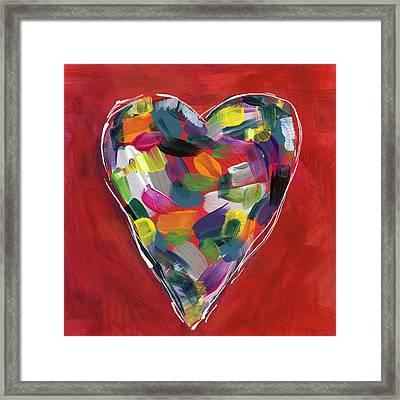Love Is Colorful - Art By Linda Woods Framed Print by Linda Woods