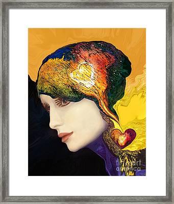 Love Hat Framed Print by Art by Ela