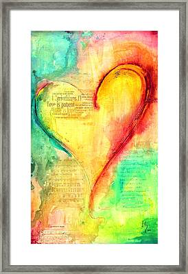Love Is Framed Print by Ivan Guaderrama