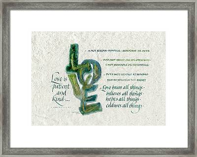 Love Is  Framed Print by Judy Dodds
