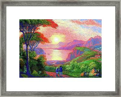 Love Is Sharing The Journey Framed Print by Jane Small