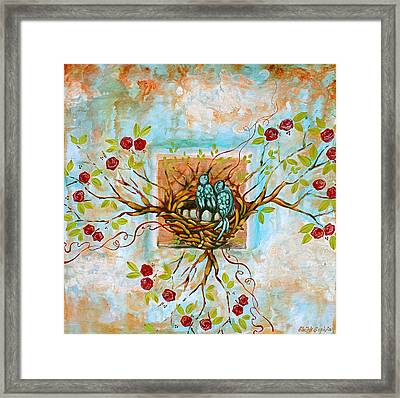 Love Is The Red Thread Framed Print by Shiloh Sophia McCloud