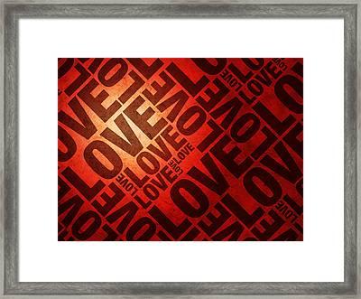 Love Letters Framed Print by Michael Tompsett