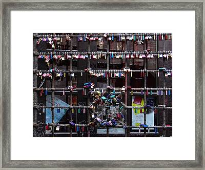 Love Locks At Juliet's House Framed Print by Keith Stokes