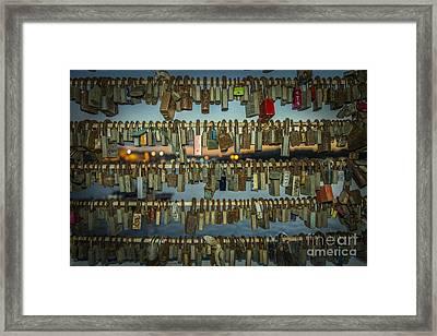 Love Locks  Framed Print by Rob Hawkins