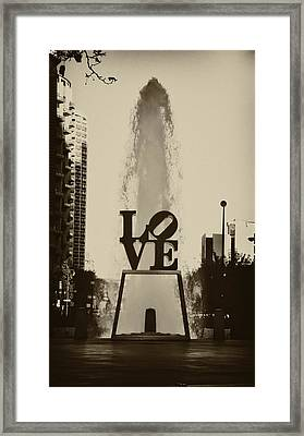Love Love Love Framed Print by Bill Cannon