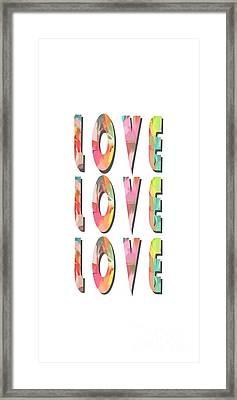 Love Love Love Phone Case Framed Print by Edward Fielding