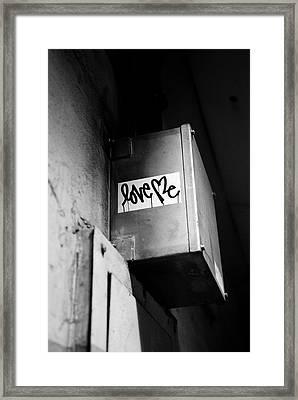 Love Me Framed Print by Dean Harte