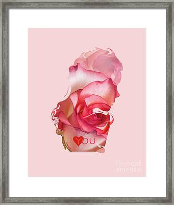 Yes Love You,  Rose 0509 Framed Print by Johannes Murat