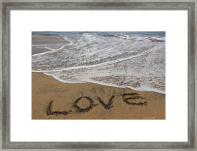 Love On The Beach Framed Print by Heidi Smith