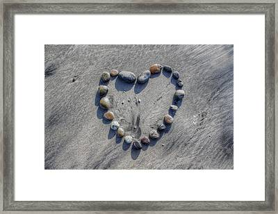 Love On The Rocks Framed Print by Jane Linders