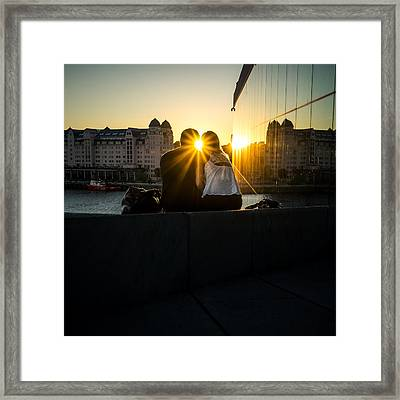 Love - Oslo, Norway - Color Street Photography Framed Print by Giuseppe Milo